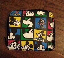 Disney Mickey & Co. Money Fashions Mickey & Minnie Mouse Wallet Vinyl Double Zip