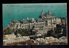 1919 Monte Carlo Monaco Casino Cover Postcard to USA Sent By American Soldier