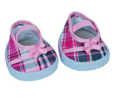 "Teddy Mountain Pink ""Plaid"" Sandals w/ Bow Fits all 14""-18"""