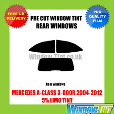 MERCEDES A-Class 3-door 2004-2012 5% Limo POSTERIORE TASTINI finestra Tinta