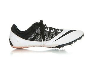 NIKE Rival S Track & Field Cleats 9 Black White Lace Up Athletic Spikes Shoes