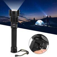 Lampe torche rechargeable USB à lampe de poche télescopique à zoom XHP50 /
