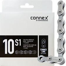 Connex 10s1 Fahrrad-Kette 114 Glieder 10-Fach Renrnad MTB, Silber, Connes Link