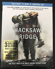 HACKSAW RIDGE(BLU-RAY+DVD+DIGITAL HD)W/SLIPCOVER BRAND NEW
