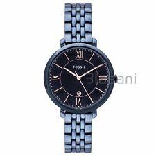 Fossil Original ES4094 Women's Jacqueline Navy Blue Stainless Steel Watch 36mm
