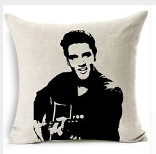 """Hollywood Rock Star Elvis Presley 17"""" Square Cushion Cover Pillow Case Gift"""