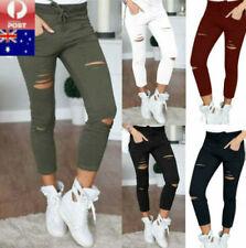 Women Ladies Casual Skinny Pencil Pants Stretch Slim Fit Leggings Jeans Trousers