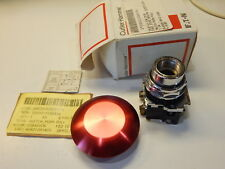 CUTLER-HAMMER EATON 10250T5J62-3 PUSH PULL RED SWITCH MILITARY 5930-01-158-2434
