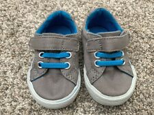 GENUINE KIDS Baby Boy Sneaker Shoes Size 2 Infant Shoes Baby Shoes Blue & Gray
