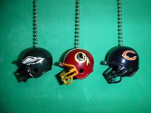 NFL Helmet Ceiling Fan / Light Pull Chain Set. PICK YOUR TEAM & CHAIN COLOR