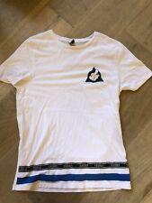 Disney Extra Long White Mens Short Sleeve T-Shirt Medium