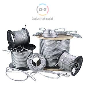 Stahlseil verzinkt Drahtseil Seil 1mm 2 3 4 5 6 8 10mm