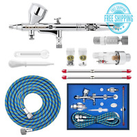 Gocheer High Precision Dual Action Gravity Feed Airbrush Kit with 0.2 0.3 0.5