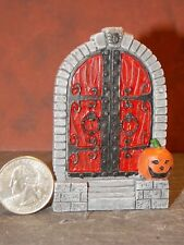 Dollhouse Miniature Halloween Door Scene Pumpkin 1:48 scale D11 Dollys Gallery