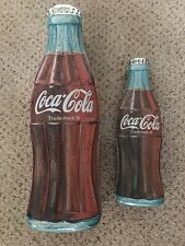 Lot of 2 Coca Cola Tin Can Bottle-shape
