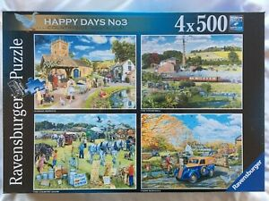 Brand New Ravensburger 4 x 500 Piece Jigsaw Puzzle - HAPPY DAYS No3, COUNTRYSIDE