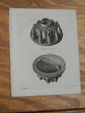 1776 Antique Scotland/Hebrides Print//BROTCHE (BROACH)//a