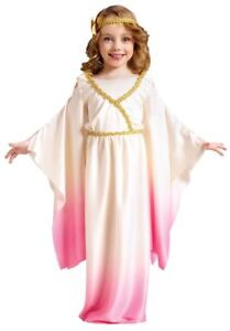 Toddler Girls Child Roman Pink Athena Goddess Gown Dress Costume