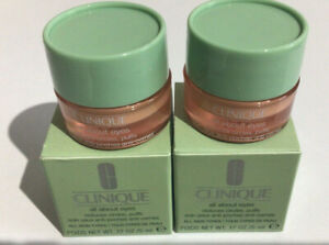 Clinique All About Eyes Eye Cream  5ml x 2 Value £17 Expy 2022 BOXED
