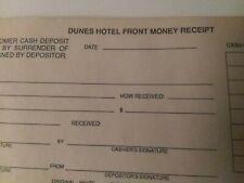 Dunes Hotel & Casino Money Receipt Book. High Rollers cage deposits.