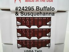 New 3 car set USRA Twin Hopper cars Buffalo & Susquehanna