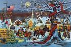 "Charles Wysocki Small Town Christmas print S & N With COA   23.875"" x 16"""