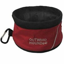 ADVENTURE TRAVEL BOWL by Outward Hound - HOLD 48 OZ OF FOOD OR WATER - RED