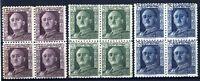 Sellos de España 1946-1947 nº 999/1001 General Franco Bloque de cuatro nuevos A1