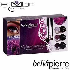 Bellapierre Starter Kit Eye Shadow Purple Storm - Inc Primer & Brushes - New