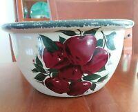 Home & Garden Party Stoneware Harvest Apple Farmhouse Decor Large Salad Bowl