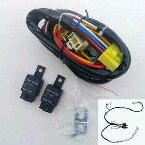 H4 Headlight Relay Harness Kit - 2 Headlight Systems - Brighter  w/ Instructions