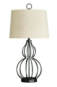 Ashley Furniture Linora Metal Table Lamp in Antique Gray - Open Box