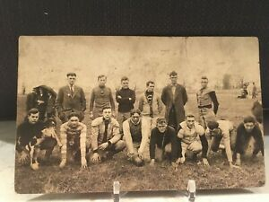 Vintage Real Photo Postcard Football Team Players