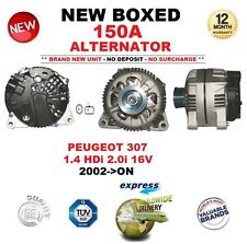 FOR PEUGEOT 307 1.4 HDi 2.0i 16V 2002-ON NEW 150A ALTERNATOR OE QUALITY