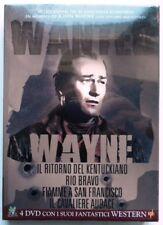 JOHN WAYNE WANTED WAYNE COFANETTO 4 DVD NUOVO PRIMA STAMPA