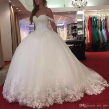 New Off Shoulder Corset Ball Gown Wedding Dress Bridal Gown Custom 4 6 8 10 12 +