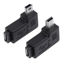 2pcs Micro USB Female to Mini USB Male Left / Right Angle 90° Adapter Connector