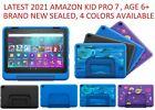 "Amazon Fire 7 Kids Pro 7"" Tablet 16GB age 6+ Blue Doodle Intergalactic Black NEW"