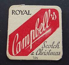 Ancien sous-bock bière ROYAL CAMPBELL'S SCOTCH & CHRISTMAS Coaster Bierdeckel 4
