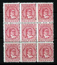 COOK ISLANDS Queen Makea Takau 1900 2½d. Deep Rose BLOCK OF 9 Perf 11 SG 16a MNH