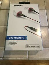 BOSE SoundSport - In-Ear Headphones w/Mic Apple - Red - Rare - NEW SEALED