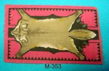 "M-353 Antique Tobacco Felt, Flannel 5X8"" Fox, ""rug"" . Good, Original Condition"