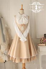 Ladies Victorian Lolita Gothic Palace Winter Warm Iron Tower Pinafore Dress