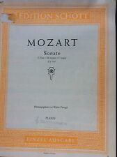 Sonate C Major KV 545 -MOZART - Edition Schott