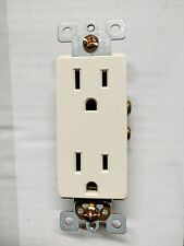 200 pc NEW Decorator Duplex Receptacle ALMOND 15A Decora Outlet Self Grounding
