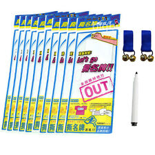 10 Pack for Running Man SBS Korea Game Name Plate/Tag Sticker + 1Pen + 2 Bells