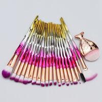21PCS Unicorn Makeup Brushes Set Foundation Powder Eyeshadow Blush Contour Brush