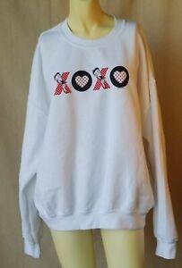 Vintage Cartoon Betty Boop XOXO Love Kisses Sweatshirt Women's XL