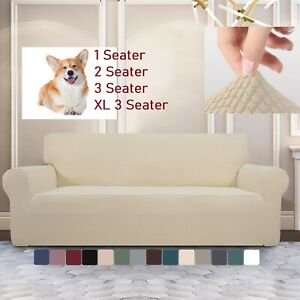 Super Stretch Couch Covers Sofa Covers Slip Covers Soft Thick 1/2/3/4 Seater Pet