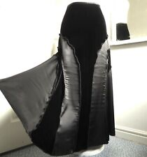 PER UNA Long Skirt Velvet Satin Flippy Boho Panelled Steampunk Victorian UK 12